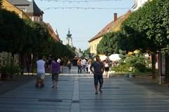 Fußgängerzone in Keszthely